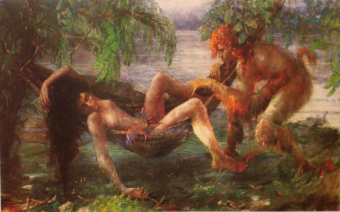 Manoel Santiago. O Curupira – Lenda Amazônica – Brasil, 1926